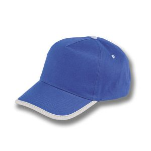 GORRA ALGODÓN BORDER AZUL ROYAL-BO21Z